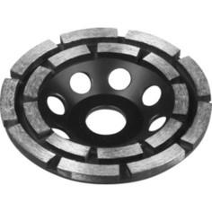 Чашка алмазная шлифовальная Зубр сегментная двухрядная, высота 22,2 мм 125 мм (33372-125)