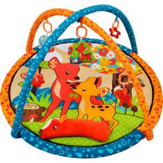 Развивающий коврик Жирафики Оленёнок Бэмби с подушкой, 5-ю развивающими игрушками и пищалкой (939354)