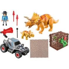 Игровой набор Playmobil Динозавры: Вражеский квадроцикл с трицератопсом (9434pm)