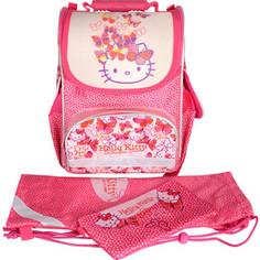 Набор ранец школьный Action HELLO KITTY, размер 34x27x13 см+мешок разм 43х34 см, +пенал-ко сметичка, д/девочек Action!