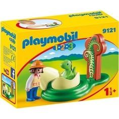 Игровой набор Playmobil 1. 2. 3. :Девочка и яйцо динозавра (9121pm)