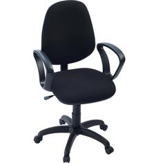 Кресло Фабрикант Комфорт Люкс (ткань мебельная ТК-1 (черный) ПВМ PL 600 чарли ролик ст.)