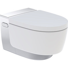 Унитаз-биде подвесной Geberit AquaClean Mera Classic безободковый, с сиденьем микролифт, дизайн панель хром (146.204.21.1)