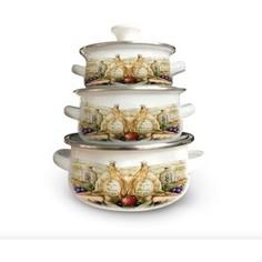 Набор посуды 6 предметов Kelli (KL-4452)