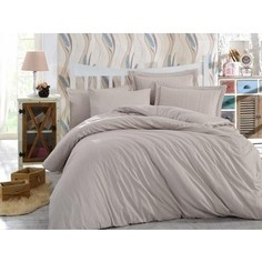 Комплект постельного белья Hobby home collection Семейный, сатин-жаккард Stripe визон (1501001639)