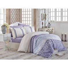 Комплект постельного белья Hobby home collection Евро, сатин Laura лиловый (1501001723)