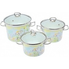 Набор эмалированной посуды 3 предмета Idilia Нежность (I1500)