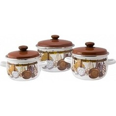 Набор эмалированной посуды 3 предмета Idilia Хозяюшка (I946)