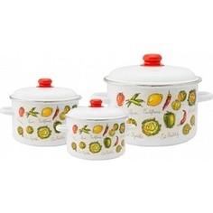 Набор эмалированной посуды 3 предмета Appetite №19 Гратен 1KB191M