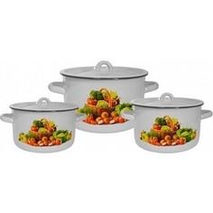 Набор эмалированной посуды 3 предмета СтальЭмаль Сентябрь 1с33