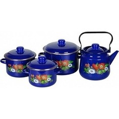 Набор эмалированной посуды СтальЭмаль Русское поле 1с142