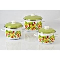 Набор эмалированной посуды 3 предмета Idilia Вкусняшка (I6)