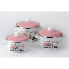 Набор эмалированной посуды 3 предмета Idilia Эльзас (I3)
