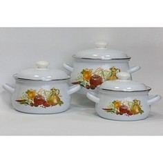 Набор эмалированной посуды 3 предмета Лысьвенские эмали Итальянская кухня 129АП2/4