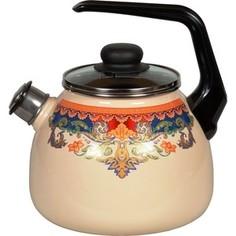 Чайник эмалированный со свистком 3.0 л Vitross Ornamento 1RC12