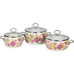 Набор эмалированной посуды 3 предмета Vitross №03 Violeta белый 1DA035S