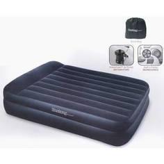Кровать надувная Bestway Premium Air Bed Queen со встроенным насосом 220В (размер 203х163х48 см) арт.67403