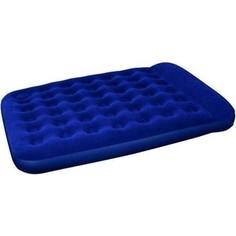 Надувной матрас Bestway Easy Inflate Flocked Air Bed(Queen) 203x152x28 см встроенный ножной насос 67226