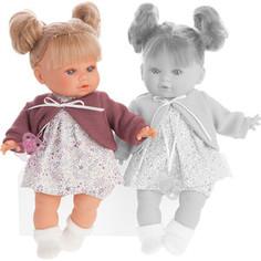 Кукла ANTONIO JUAN Монси в фиолетовом, плач., 30 см