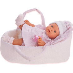 Кукла ANTONIO JUAN Лана в корзине, плач., 27 см