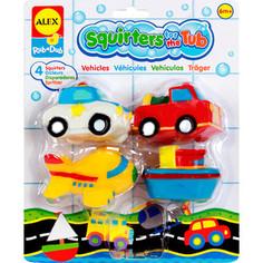 Набор для ванны Alex Игрушки для ванны Транспорт 4 пр. в блистере, от 6 мес Alex®