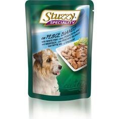 Паучи Stuzzy Dog Speciality with White Fish кусочки в соусе с треской для собак 100г (131.2572)