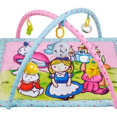 Развивающий коврик Жирафики Алиса и волшебный замок с 4-мя развивающими игрушками, с шуршалкой и зеркальцем (939352)