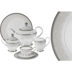 Чайный сервиз 42 предмета на 12 персон Midori Вуаль белая (MI2-K6986-Y3/42-AL)