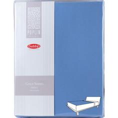 Простыня Hobby home collection на резинке 100х200 см синий (1501001971)