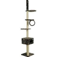Когтеточка Зооник Комплекс многоэтажный для кошек 480 х 480 х 2500см (22031)