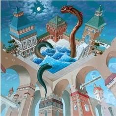 Пазл ООО ДАВИЧИ Купание разноцветного дракона, серия Иллюзии (37197)