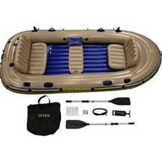 Надувная лодка Intex Экскурсия-5 (до 455кг) 366х168х43см + весла/насос, (68325)