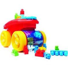 Конструктор Mattel Mega bloks first builders веселый вагончик для сбора кубиков (CNK34)