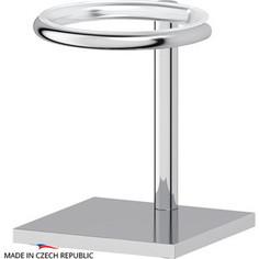 Держатель стакана/дозатора жидкого мыла настольный Ellux Domino, для ELU 001, ELU 002, ELU 003, ELU 004, хром (DOM 001)