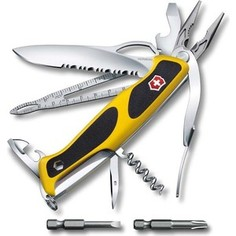Нож перочинный Victorinox RangerGrip Boatsman 0.9798.MWC8 (130мм, 21 функция, жёлто-чёрный)