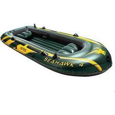 Надувная лодка Intex 68350 Seahawk 4 (до 400кг) 351х145х48см