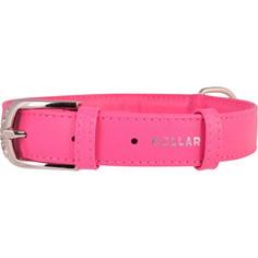 Ошейник CoLLaR Glamour без украшений ширина 20мм длина 30-39см розовый для собак (32937)