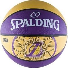 Мяч баскетбольный Spalding любительский Los Angeles Lakers р.7 (83-156z)