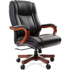 Офисное кресло Chairman CH 403 кожа + PU черное