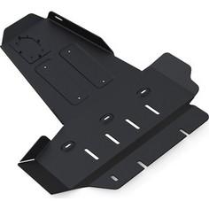 Защита картера и КПП Rival для Jeep Wrangler JK 2/4-дв. МКПП (2007-н.в.), сталь 3 мм, 222.2730.1
