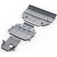 Защита картера, КПП и РК Rival для Porsche Cayenne (2018-н.в.), алюминий 4 мм, K333.4612.1