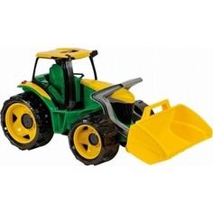 Игрушечная машинка Lena Трактор с грейдером и ковшом в подарочной упаковке желт.-зел. 107 см (2057) Лена