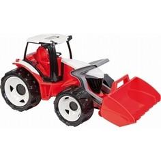 Игрушечная машинка Lena Трактор с грейдером в подарочной упаковке красн.-бел. син.-бел. 62 см (2055) Лена