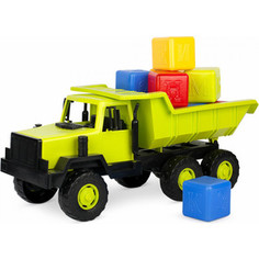 Игрушечная машинка Росигрушка Самосвал Таежный с набором кубиков, 50 см (9293)