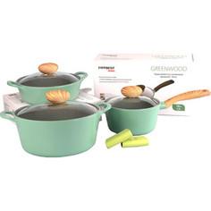 Набор посуды 5 предметов Frybest Greenwood (GREENWOOD-N20)