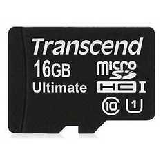 Карта памяти Transcend 16GB microSDHC Class 10 UHS-1 (TS16GUSDCU1)