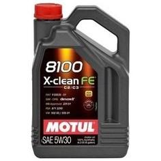 Моторное масло MOTUL 8100 X-Clean FE 5w-30 4 л