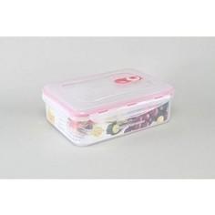 Контейнер вакуумный для продуктов 1.65 л Stahlberg Розовый (4251-S)