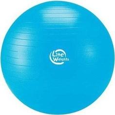 Мяч гимнастический Lite Weights 1867LW (75см, антивзрыв, с насосом, голубой)