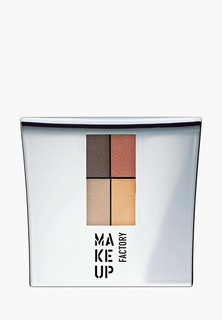 Тени для век Make Up Factory 4-х цветные Eye Colors т.05А коричн.пастель/золото/песок/терракот